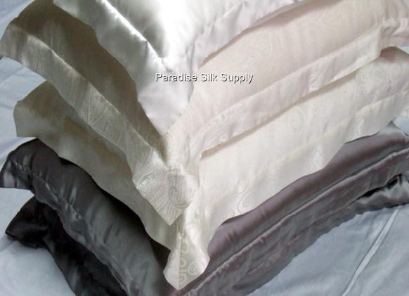 Free Shipping 100% Silk Pillowcase 2Pcs Silk Pillowcase 16.5MM Pure Silk Mock Oxford Pillow Cases For Queen(China (Mainland))