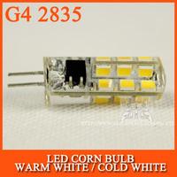 10PCS/lot LED Bulb lamp SMD 2835 G4 5W/AC 3W/DC 24LED Corn Light 12V 360 Degree Replace Halogen Lamp