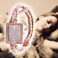 Gold   Luxury Crystal WristWatch.Fashion Quartz Women Rhinestone Watches Clock Montre Femme Relogios Femininos 2014 New