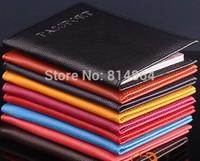 Colorful Fashion passport holder PU Leather Passport bag waterproof English PASSPORT passport this customized wholesale