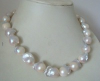 huge 20mm natural Australian south sea white pearl necklace 20inch  14kclasp