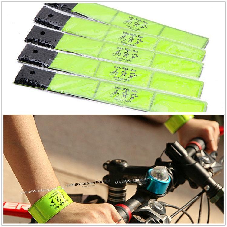 Wholesale 10pcs/ 20pcs Reflective Bracelet Wristband Walking Cycling bike Jogging Safety reflectors Bicycle running bracelet(China (Mainland))