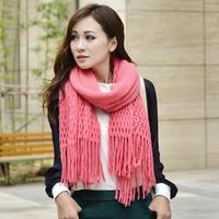 Winter Korea Multicolor Long Large Warm Soft Wrap Women Scarf Shawl Tassels Free Shipping X552