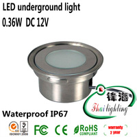 Free shipping IP67 0.5W LED underground light set: 6pcs led light & 1pc 8W LED driver & 1pc T connecting cable (FH-SC-F104A)
