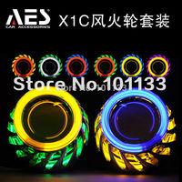 Hot Sale AES-X1C HID h4 bi-xenon projector lens angle eyes car headlight  kit