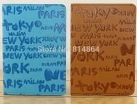 City name New York Tokyo Paris passport holder PU Leather Passport bag English passport this customized wholesale