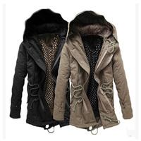 Free Shipping Hooded&Belt Down Men Jacket Fashion Slim Coat Jacket men Men Coats Warm Winter Casual Fitness Clothing Men #NL67