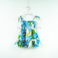 New 2014 Children Summer Clothes Beach Style Girls' Dresses Baby Girls Dresses Fashion Floral Summer Dress Summer Dress For Kids