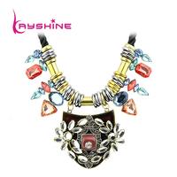 2015 New Bohemia Created Gemstone Boho Chic From India For Women Statement Turkish Necklace