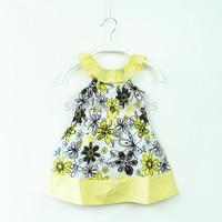 New 2014 Children Summer Wear Beach Style Girls' Dresses Baby Girls Dresses Cute Floral Summer Dress Summer Dress For Kids