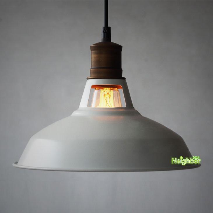 New Vintage blocked shots Pendant Light Hanging Lamp Living Room Dining Room Light E27 Indoor Lighting White D28cm(China (Mainland))