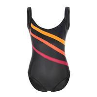 La Isla Women's Slimming Stripes Print Built In Cups One Piece Swimsuit Swimwear Black EU 36 38 40 42 44 46 48 50 52 54
