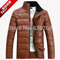 Men's winter jacket men short paragraph Slim high -quality men's / import PU leather jacket