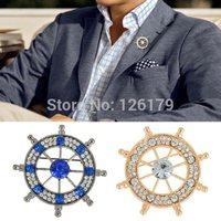 1PC Fashion Broches Pins Silver Crystal Rhinestone Brooch for Wedding Womens Mens Brooch Pin Wholesale