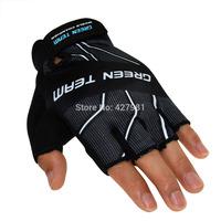 Taiwan Jih Sun GREEN TEAM brand cycling half finger gloves wholesale custom