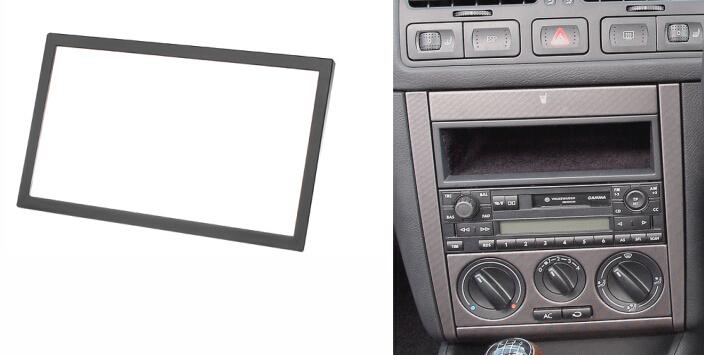Double Din Audio Fascia for VW Passat B5 Bora Golf IV Radio CD GPS DVD Stereo CD Panel Dash Mount Installation Trim Kit Frame(China (Mainland))