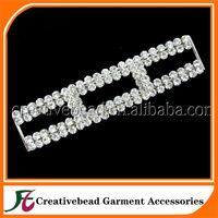 fashion new design silver metal crystal rhinestone bikini connector for sale + free shipping