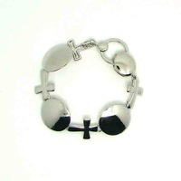 Trendy hot 3pcs lot free shipping metal cross charm magnetic summer cool bracelet jewelry