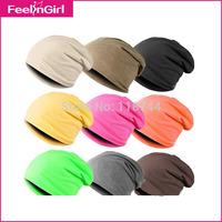 Wholesale New Unisex 9 Solide Colors Hip hop One Size Cap Fashion Skullies & Beanies Winter Women Men Hats Free Shipping 3
