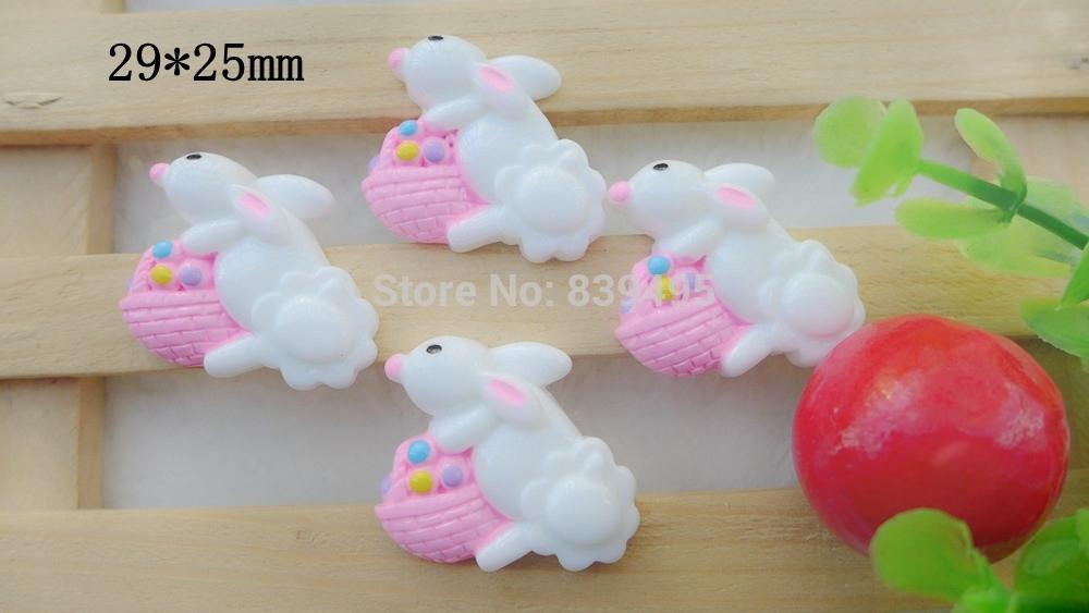 Free Shipping! 50pcs Kawaii Easter Rabbit Resin Cabochon Flatbacks Scrapbooking Hair Bow Center Crafts(China (Mainland))