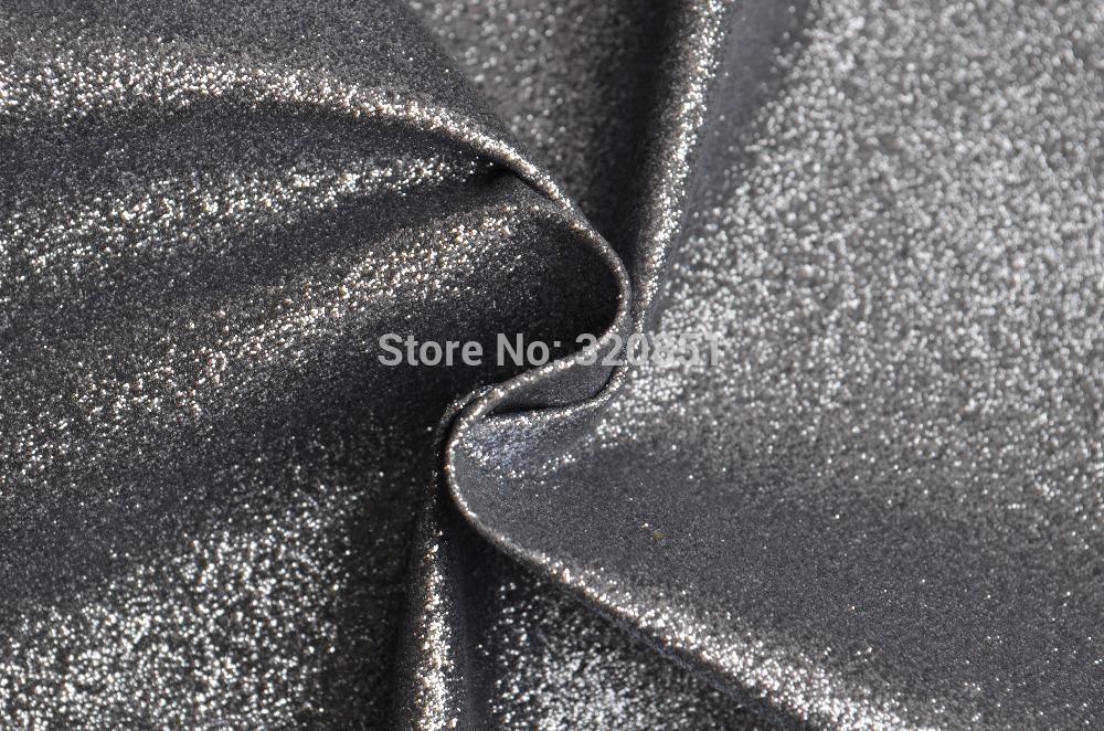 10Yards Dark Silver Glitter Leather Fabric,Dark Silver Glitter For Wallets Purses Bag Making,Shiny Headwear Decorateor,54'' Wide(China (Mainland))