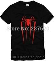 Free shipping spiderman t-shirt super hero spiderman tee short sleeve T shirt 100% cotton 6 color