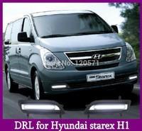 High Quality! 2008-2014 Hyundai H1 Starex Daytime Running Light Fog light! H1 LED DRL Free Shipping!!