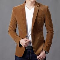 New Fashion Men's Casual Slim Stripped Corduroy Blazer Coat,Small Jacket For Men Spring Autumn,4 Colors,Size M-XXXL,2152