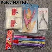[Value Special Kit] 10 in 1 Nail Tools Kit, Natural Acrylic False Nail Tips Kit + Free Shipping
