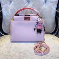 Women Lady Original Top Quality Peekaboo Genuine Leather Bag Handbag Colourblock Bag