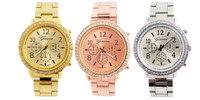 Hot Sales 3 Colors Geneva Brand Crystal Wristwatches Stainless Steel Watch Men Women Ladies Low Price G06