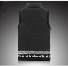 Winter Collar casual cotton vest male taxi fertilizer XL cotton vest waistcoat jacket Korean Slim influx