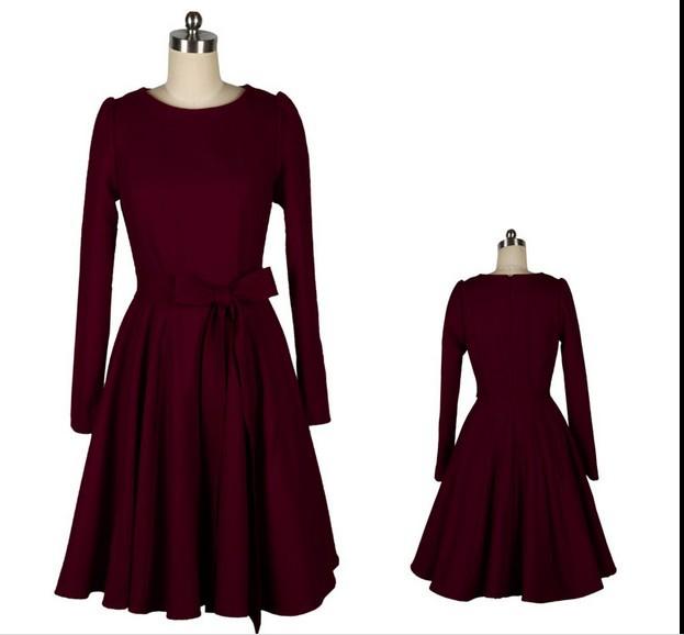 Long sleeve 50s dress attire