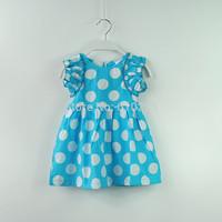New 2014 Children Summer Wear Girls' Dresses Baby Girls Dress Cute Polka Dot Summer Dress Summer Clothing For Kids