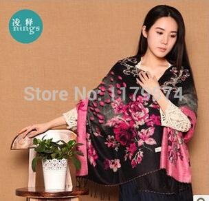Free shipping 2015 new scarf large thickened cotton wool scarf fashion jacquard shawl 200cmx70cm Ms. HM3(China (Mainland))