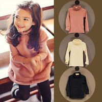 2014 autumn/winter Korean new girl turtle neck long sleeve t shirt top