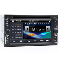 "Universal 2 Din 6.2"" In Dash Car DVD Player GPS/ Radio/FM/USB/SD/Bluetooth/TV HD digital touch screen full popular function free"