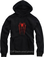 Free shipping Fleece outerwear thickening sweatshirt with a hood pullover sweatshirt spiderman Hoodie 8 color