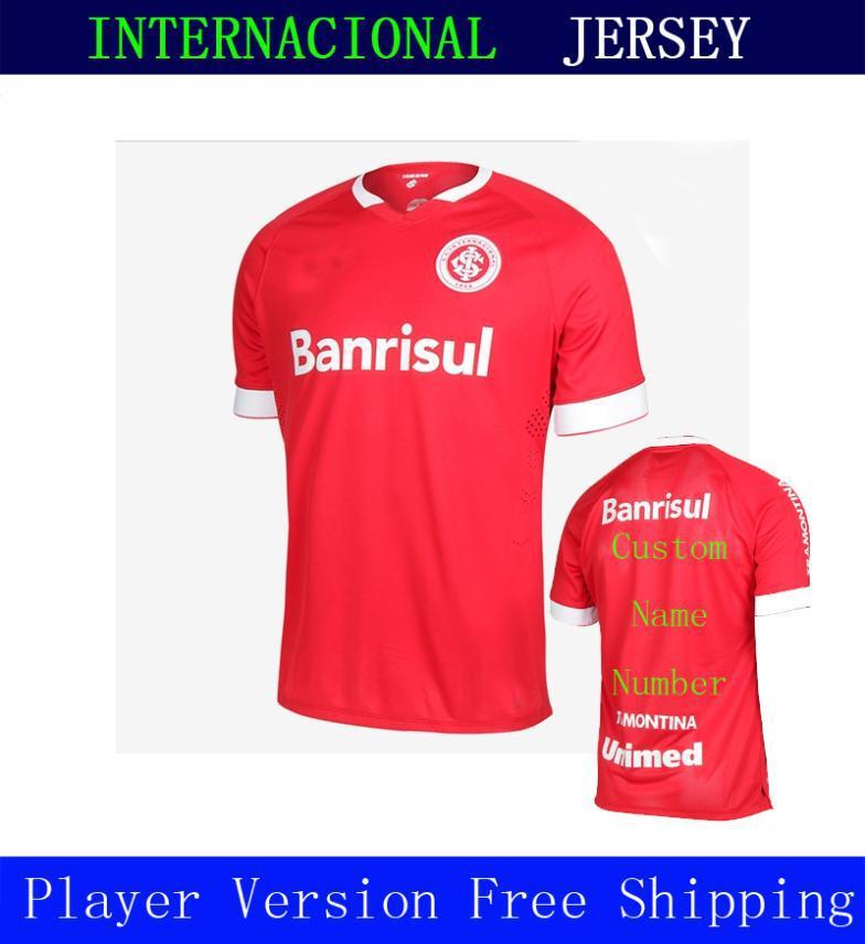CAMISA MASCULINA Sport Club Internacional 2014 Home Red New 2015 A+++ Thailand Wear Soccer Jersey Camisetas De Futbol Uniform(China (Mainland))