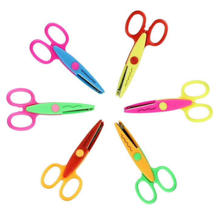 tesoura delicada crianças para diy foto álbum artesanal padrão 6 scissor