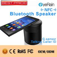 Newest Portable NFC Bluetooth Wireless Speaker PC Boombox Mini-speaker with G-sensor ,Sharking Sensor Free Shipping  .BS30A