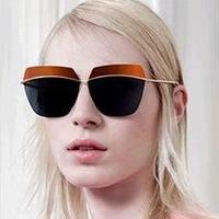 2014 New Arrival Women Brand Designer Rimless Sunglasses Dr Metallic Women Fashion Half Colorful Lenses Sunglasses Sun Glasses