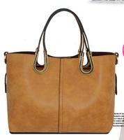 European New Designer Women Handbags 2015 High Quality Faux Suede Leather Tote Winter Fashion 2 in 1 Bags Bolsas Femininas Purse
