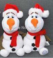 FREE Ship NEW Christmas Olaf Frozen 30cm Plush Soft Dolls Frozen Olaf Snowman Children Christmas Gifts