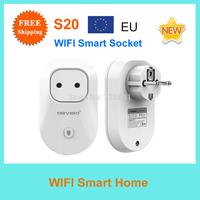 Free Shipping Orvibo S20 EU Standard WIFI Smart Socket timer switch Wall Plug wireless control Smart home/WIFI power sockert