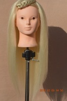 "Free Shipping Mannequin Dummy 20 "" High Temperature Fiber Train Mannequin Head With Hair"