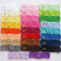 Free Shipping!2014 New Arrive 100pcs /lot Handmade Crochet Baby Headband Children Headwear Girl/Kid's Solid Headband