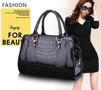 Factory Price High Quality Japanned Leather Women Handbags New Fashion Crocodile Pattern Tote Messenger Bags Bolsas Femininas