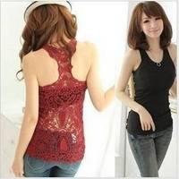 2014 NEW fashion Korean Female Summer Back hollow pattern vest women Sexy tank tops Nightclubs vest