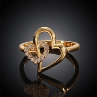 Free shipping! 2015 Romantic heart rings jewelry wholesale,  vogue jewelry wedding rings USR612